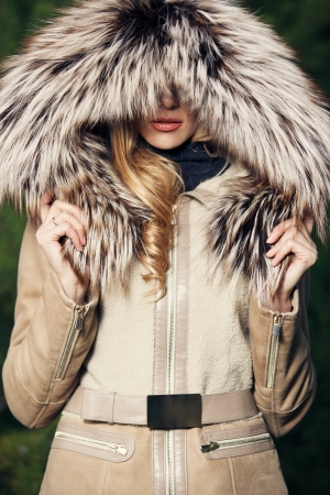 Young women with fur Seasonal Fashion photo