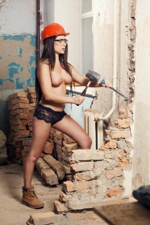 Sexy nudo costruttore femminile