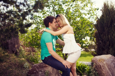 Couple embracing photo