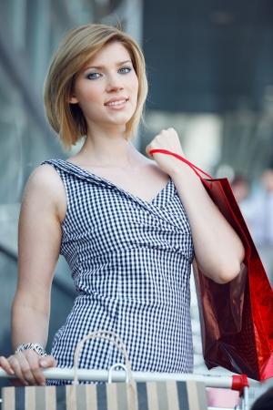 beautifull woman: Beautifull woman with shopping bags Stock Photo