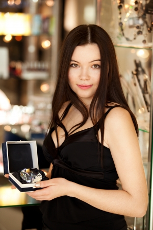 salesgirl: Pretty Brunette salesgirl