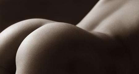 Beautifull parte posteriore sexy di giovane donna in studio