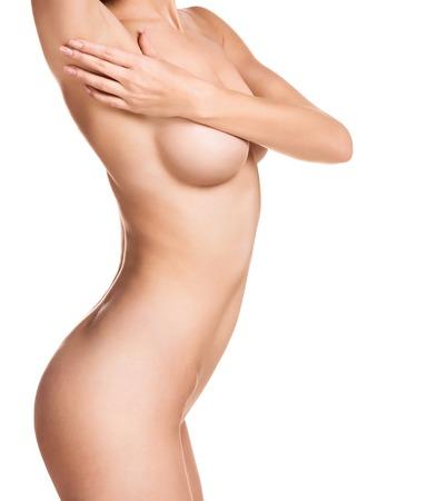 Bel corpo femminile. Isolato su sfondo bianco