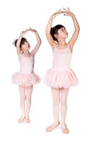 ballerina girl: Little ballerina isolated on white background