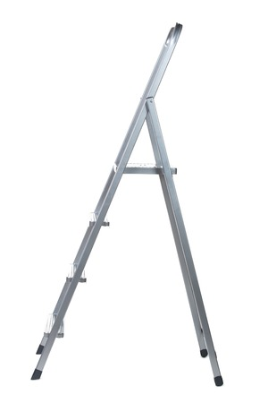 New Metallic Step Ladder isolated on white photo