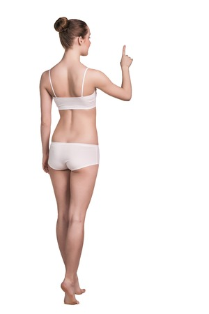perfect fit: Portrait of a happy young woman with perfect fit body