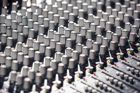 pult: Professionale Mixer Audio close up immagine