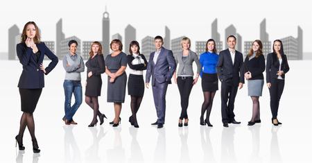 megalopolis: Business team against the megalopolis