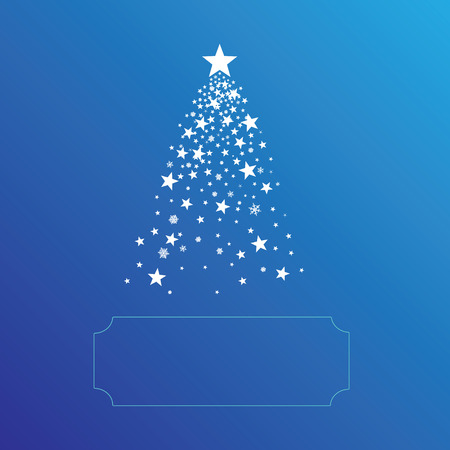 Christmas tree with copy space for your text Vector