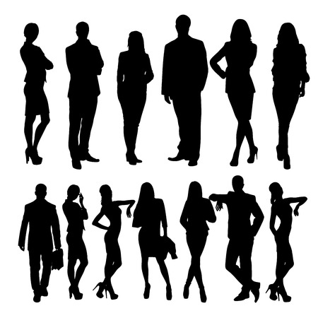 business people silhouettes vector illustration Imagens - 33658855