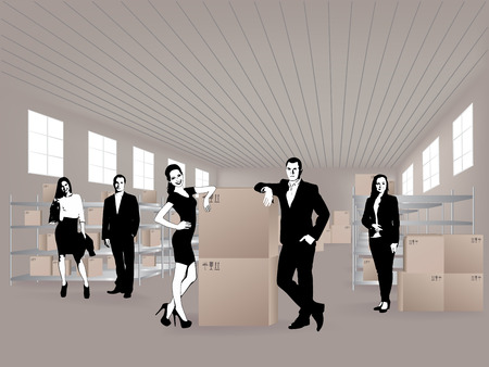 efficiently: Group in warehouse, they are from the Customer Service