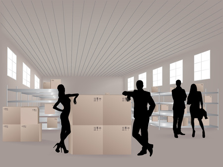 successfully: Group in warehouse, they are from the Customer Service