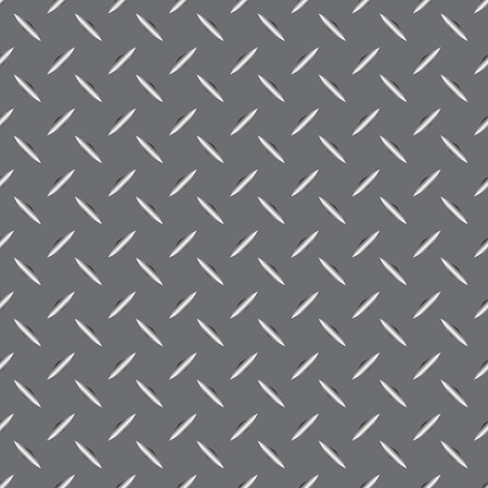 diamondplate: Background of metal diamond plate in silver color. Seamless