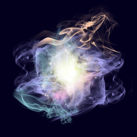 galaxies: Interacting galaxies on black background