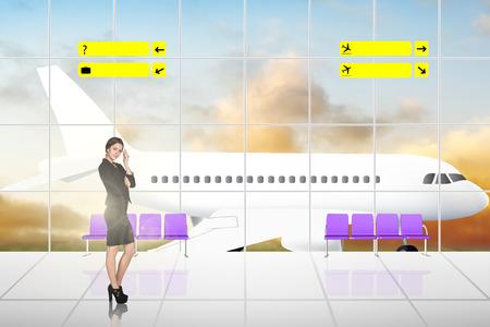 International Airport Terminal Travel Business Trip Concept Stok Fotoğraf
