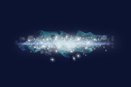 galaxie: Galaxy Glanz in den Raum. Blauer Hintergrund Lizenzfreie Bilder