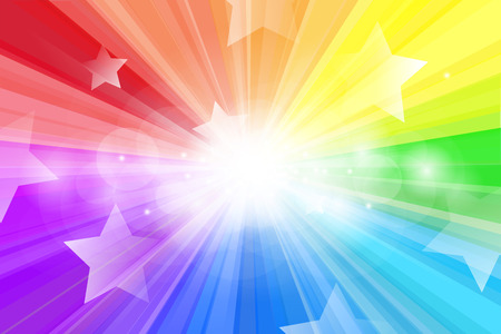 rays light: Abstract background, Beautiful rays of light and star shape