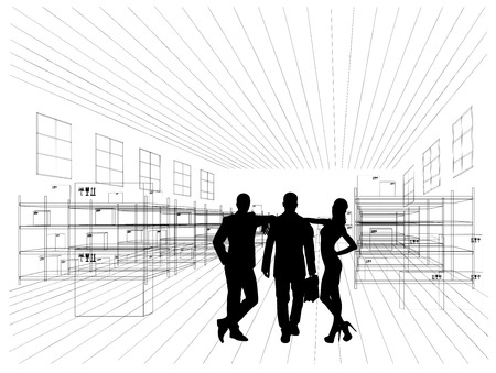 indoors: Business people indoors