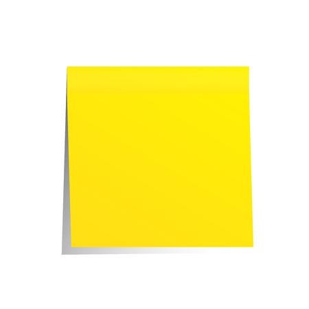 post it giallo nota isolato su bianco Archivio Fotografico