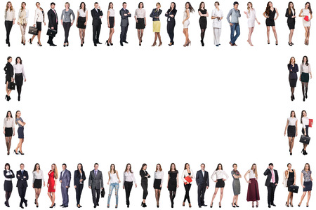 large group of business people: Group of smiling business people. Business team frame
