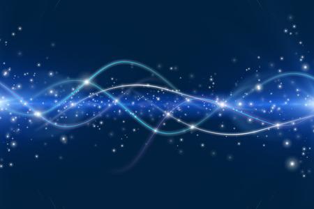 Interazione dinamica dei moduli attraenti e linee sul tema delle moderne tecnologie, comunicazioni, energia, movimento e spazio