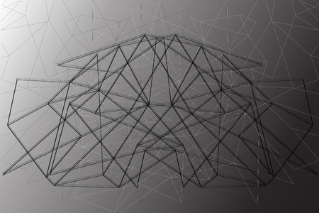 the contour: Black contour lines on the gray wall