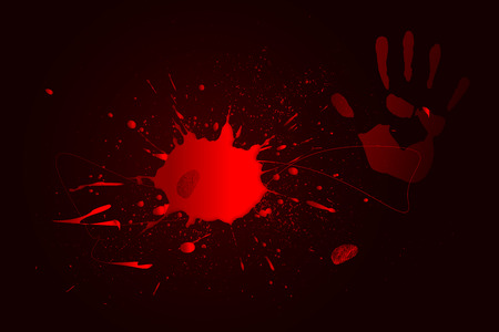 seep: Puddle of blood on the dark background Stock Photo