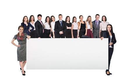 hoja en blanco: Grupo de hombres de negocios sobre el fondo blanco