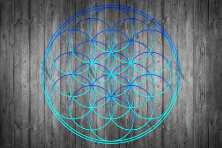 universal enlightenment: Flower of life , sacred geometry - symbol harmony and balance