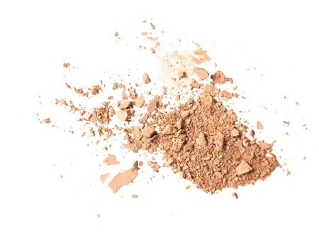 honey tone: Cosmetic crushed powder isolated on white background