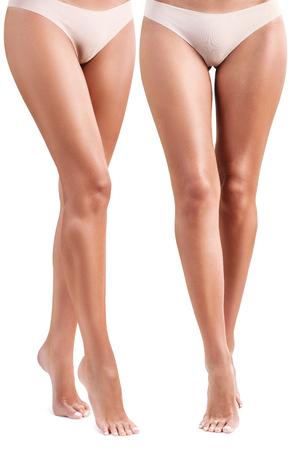완벽하고 아름다운 여성 다리.