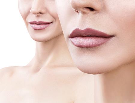Beautiful woman with perfect lips.