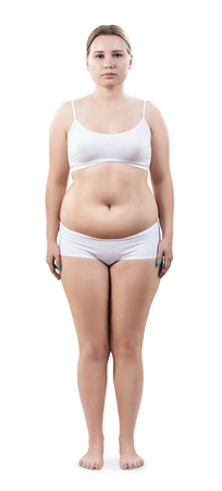 glandular: Full length portrait of overweight young woman