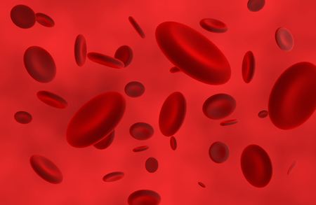 Red blood cells in artery. 3D rendering