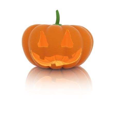 3d Halloween Pumpkin. 3D rendering.