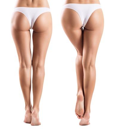 Kolaż z doskonałymi nogami z innego widoku. Zdjęcie Seryjne