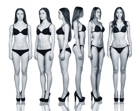 Set of womans body from all angles
