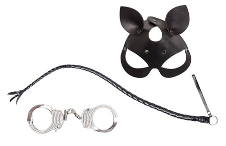 Collage of objects for bdsm sexual plays.
