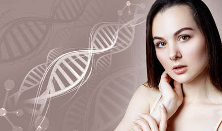 A woman among the DNA strands
