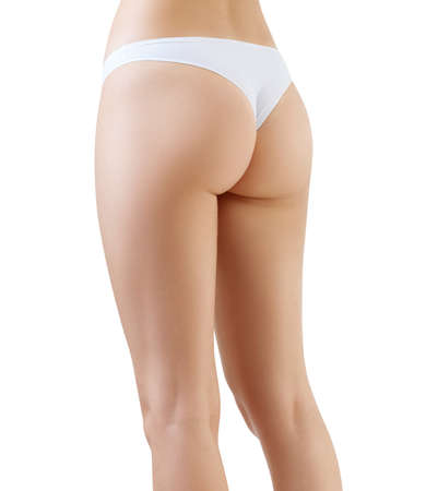 Perfect female legs and from side view.