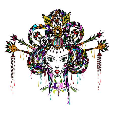 geisha: geisha vector illustration
