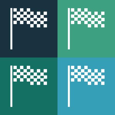 chequer: Checkered flag icon Illustration