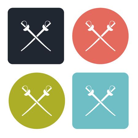 swordsmanship: Fencing icon Illustration