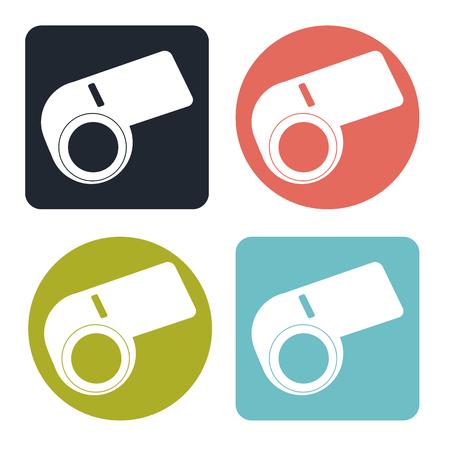 objection: Whistle icon Illustration