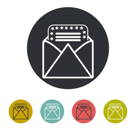 congratulatory: Congratulatory letter icon Illustration