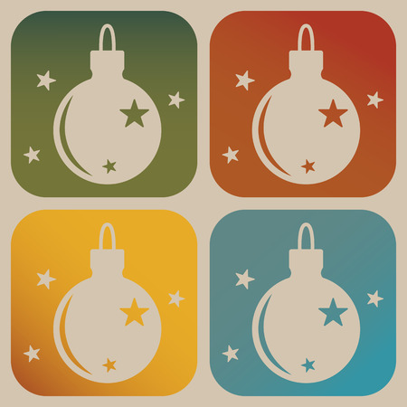 christmas icon: Christmas tree toy icon