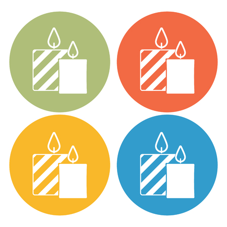 paraffin: Candle icon Illustration