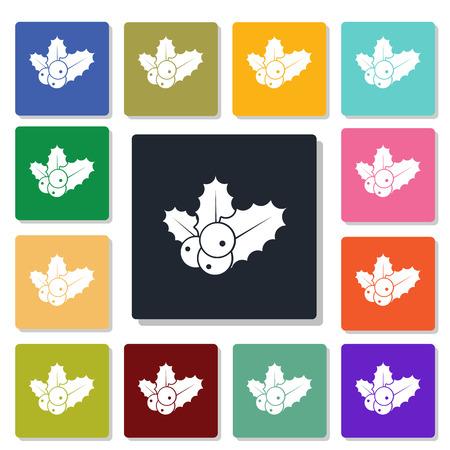 obligation: Mistletoe icon Illustration