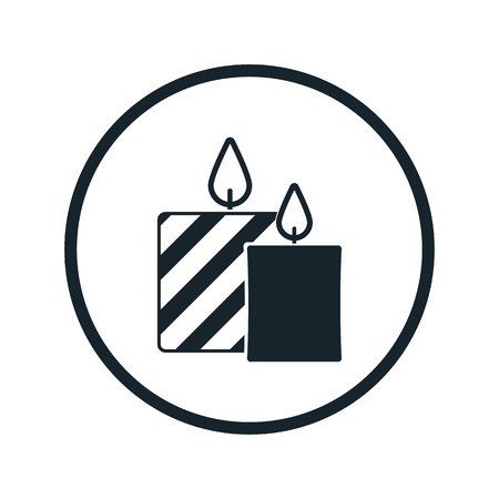 candlelight memorial: Candle icon Illustration