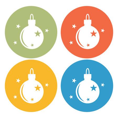 Christmas tree toy icon